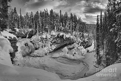Photograph - Black And White Sunwapta Falls by Adam Jewell