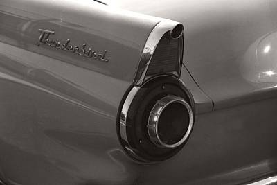Photograph - Black And White Thunderbird Tail Fin by Heather Kirk