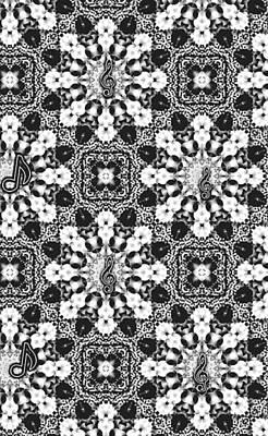 Digital Art - Black And White Triangle Art by Sheila Mcdonald