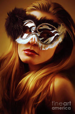 Photograph - Black And White Venetian Eye Mask by Dimitar Hristov