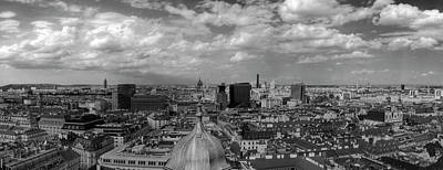 Photograph - Black And White Vienna Cityscape by Vlad Baciu