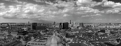 Photograph - Black And White Vienna Cityscape by Vlad Baciu