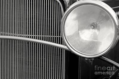 Black And White Vintage Car Abstract 1 - Natalie Kinnear Photogr Art Print