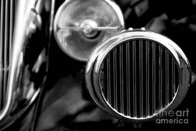 Black And White Vintage Car Abstract 2 - Natalie Kinnear Photogr Art Print