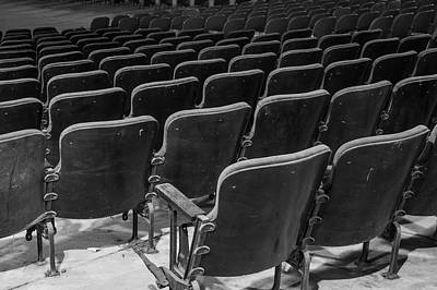 Fine Dining - Black and white vintage theater seats by Karen Foley