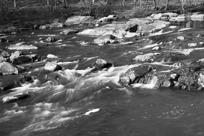 Overtime Photograph - Black And White Water by William Hall