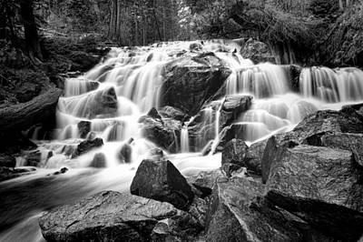 Photograph - Black And White Waterfall In Lee Vining Canyon by Frank Lee Hawkins