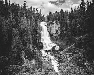 Photograph - Black And White Waterfall Long Exposure Of Alexander Falls In Bc by Open Range