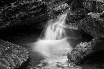Photograph - Black And White Waterfall by Scott Meyer