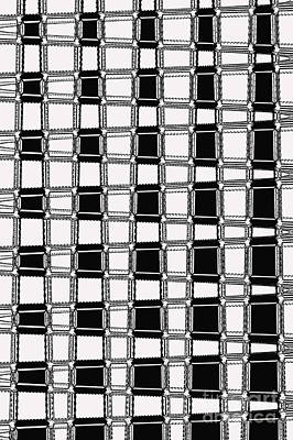 Digital Art - Black And White Weave by Nina Silver