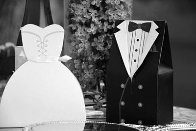 Photograph - Black And White Wedding Display by Serena King