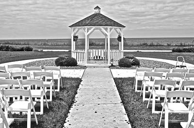 Photograph - Black And White Wedding by Frozen in Time Fine Art Photography