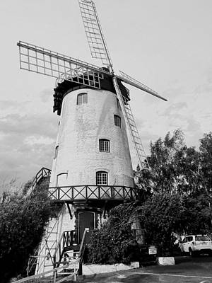 Photograph - Black And White Windmill by Sandy Taylor