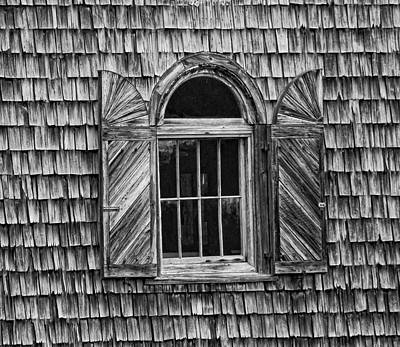 Photograph - Black And White Window by Linda Brown