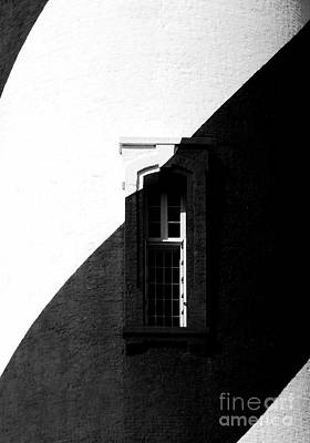 Photograph - Black And White Window by Mel Steinhauer