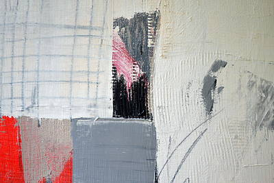 Painting - Black And White With Hatch Marks by Michelle Calkins