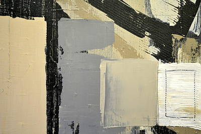Painting - Black And White With Inner Square by Michelle Calkins