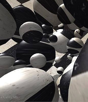 Digital Art - Black And White World  by Gerry Tetz