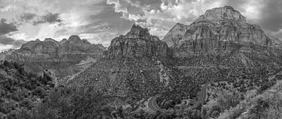 Photograph - Black And White Zion Switchback  by John McGraw