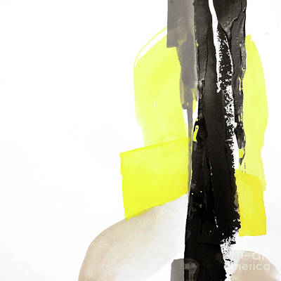 Wall Art - Painting - Black And Yellow 1 by Chris Paschke