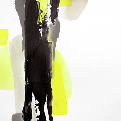 Wall Art - Painting - Black And Yellow 2 by Chris Paschke