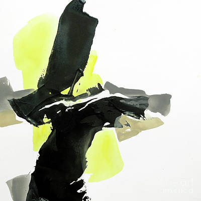 Wall Art - Painting - Black And Yellow 4 by Chris Paschke