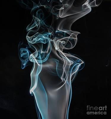 Digital Art - Black-background Blue Impulse by S Art