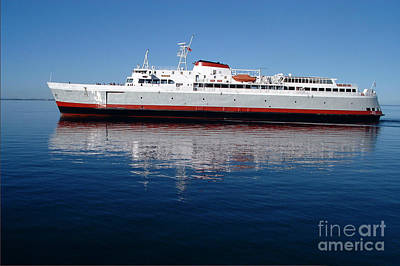 Art Print featuring the photograph Black Ball Ferry by Larry Keahey