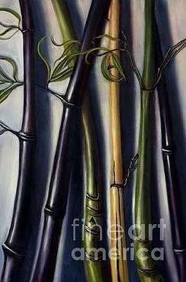 Painting - Black Bamboo 1 by Randy Burns
