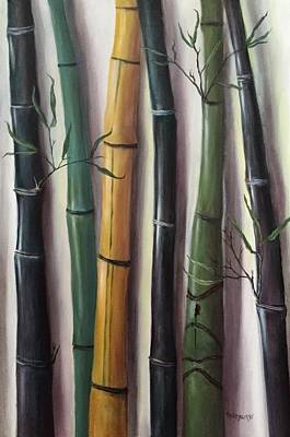Painting - Black Bamboo 3 by Randy Burns