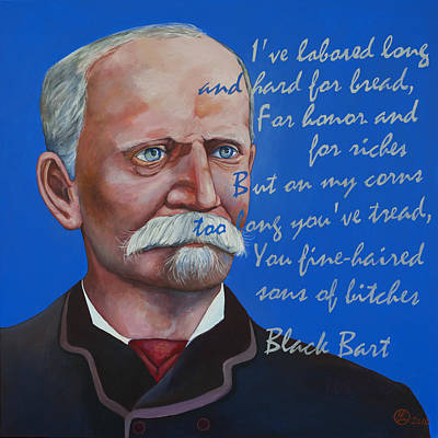 Bandit Painting - Black Bart by Robert Lacy