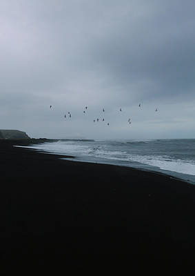 Photograph - Black Beach by Angela King-Jones