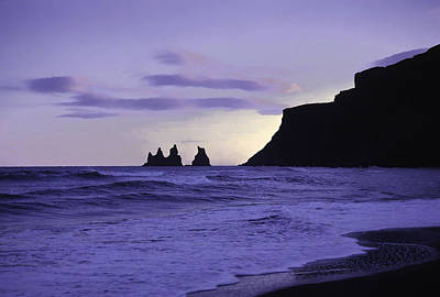 Photograph - Black Beach At Vik In Iceland by Richard Goldman
