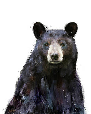 Polar Bear Mixed Media - Black Bear by Amy Hamilton