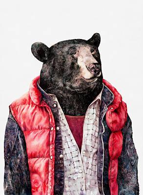 Painting - Black Bear by Animal Crew
