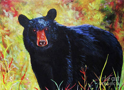 Painting - Black Bear by Anne Marie Brown