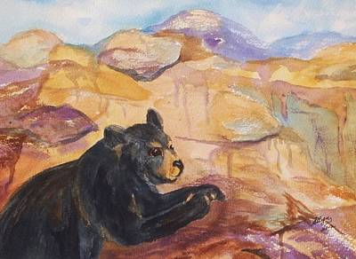 Black Bear Cub Art Print by Ellen Levinson