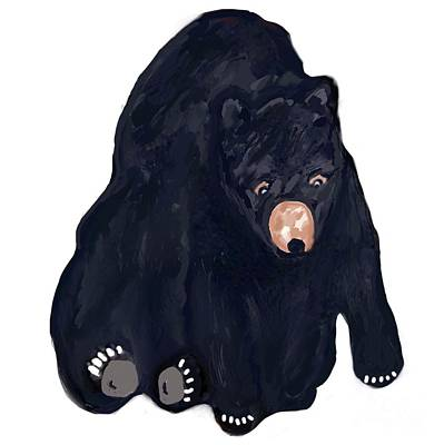 Drawing - Black Bear Illustration Drawing by Susan Garren