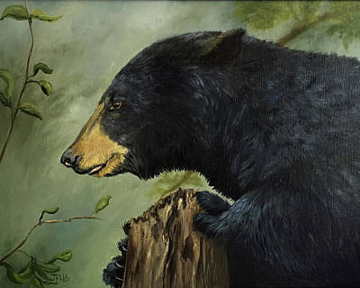 Painting - Black Bear by Jan Priddy