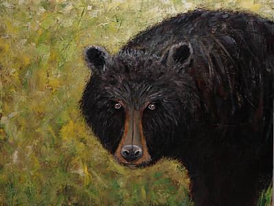 Painting - Black Bear Of The Blue Ridge Mountains by Gray Artus