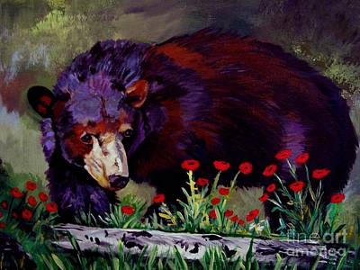 Painting - Black Bear Retreat by Leslie Allen