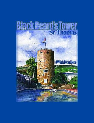 Painting - Black Beard's Tower Shirt by John D Benson