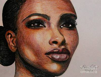 Drawing - Black Beauty 1 by Sheron Petrie