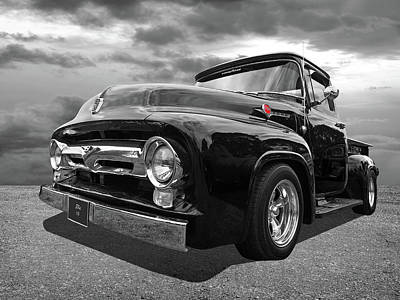 Photograph - Black Beauty - 1956 Ford F100 by Gill Billington