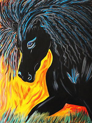 Black Beauty Art Print by Nora Shepley
