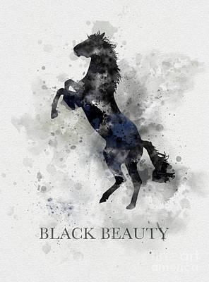 Author Mixed Media - Black Beauty by Rebecca Jenkins
