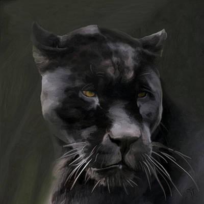 Digital Art - Black Beauty by Vic Weiford