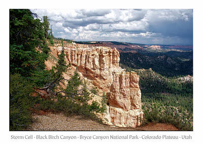 Photograph - Black Birch Canyon Bryce Canyon Utah 01 Text by Thomas Woolworth