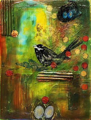 Black Bird Come Home Art Print by Ishita Bandyo