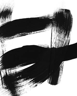 Painting - Black Brushstroke 3- Art By Linda Woods by Linda Woods